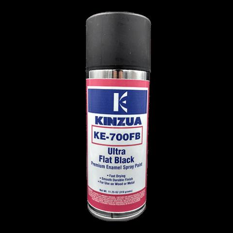 Flat black enamel spray paint