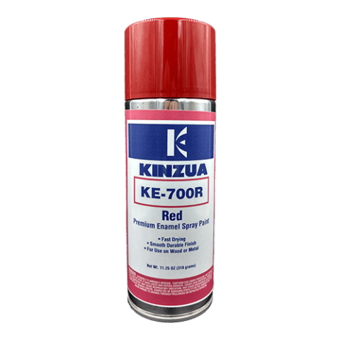 Red enamel spray paint