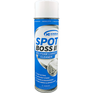 Dry foam carpet spray